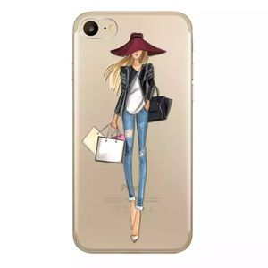 FASHION GIRL IPHONE 7 8 PLUS  SILICONE SHOPPING